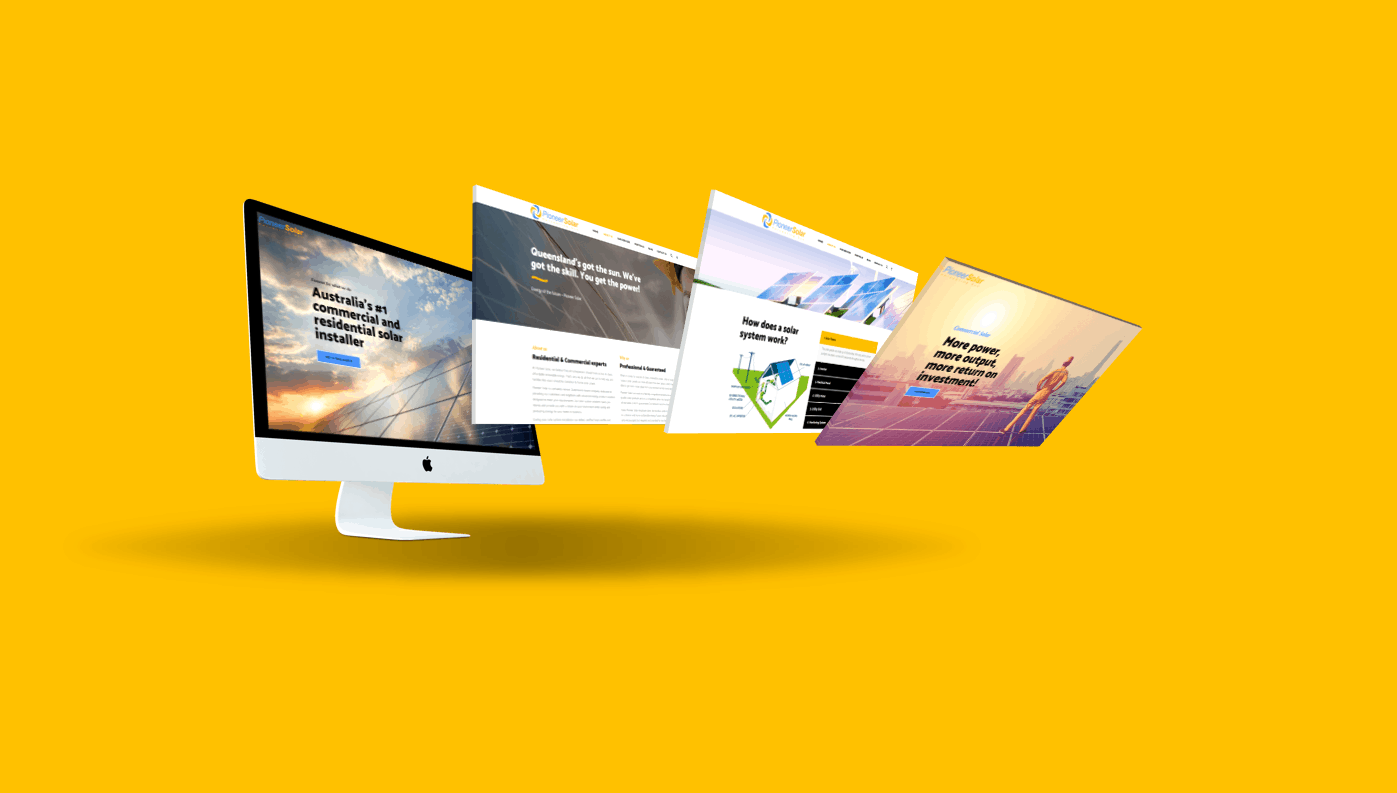 Pioneer Solar website by TA Digital