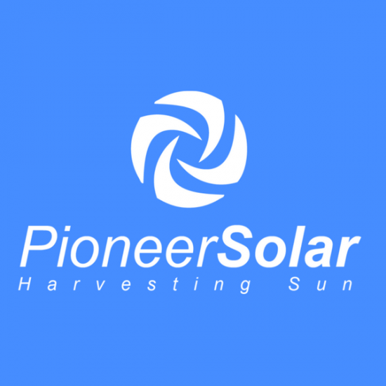 Pioneer Solar Logo by TA Digital – Blue