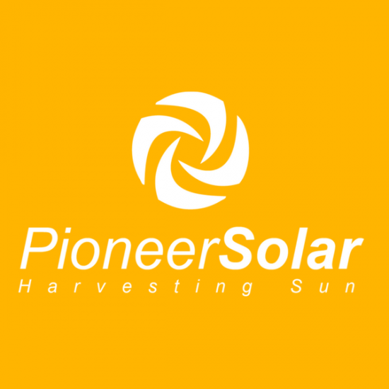 Pioneer Solar Logo by TA Digital – Yellow