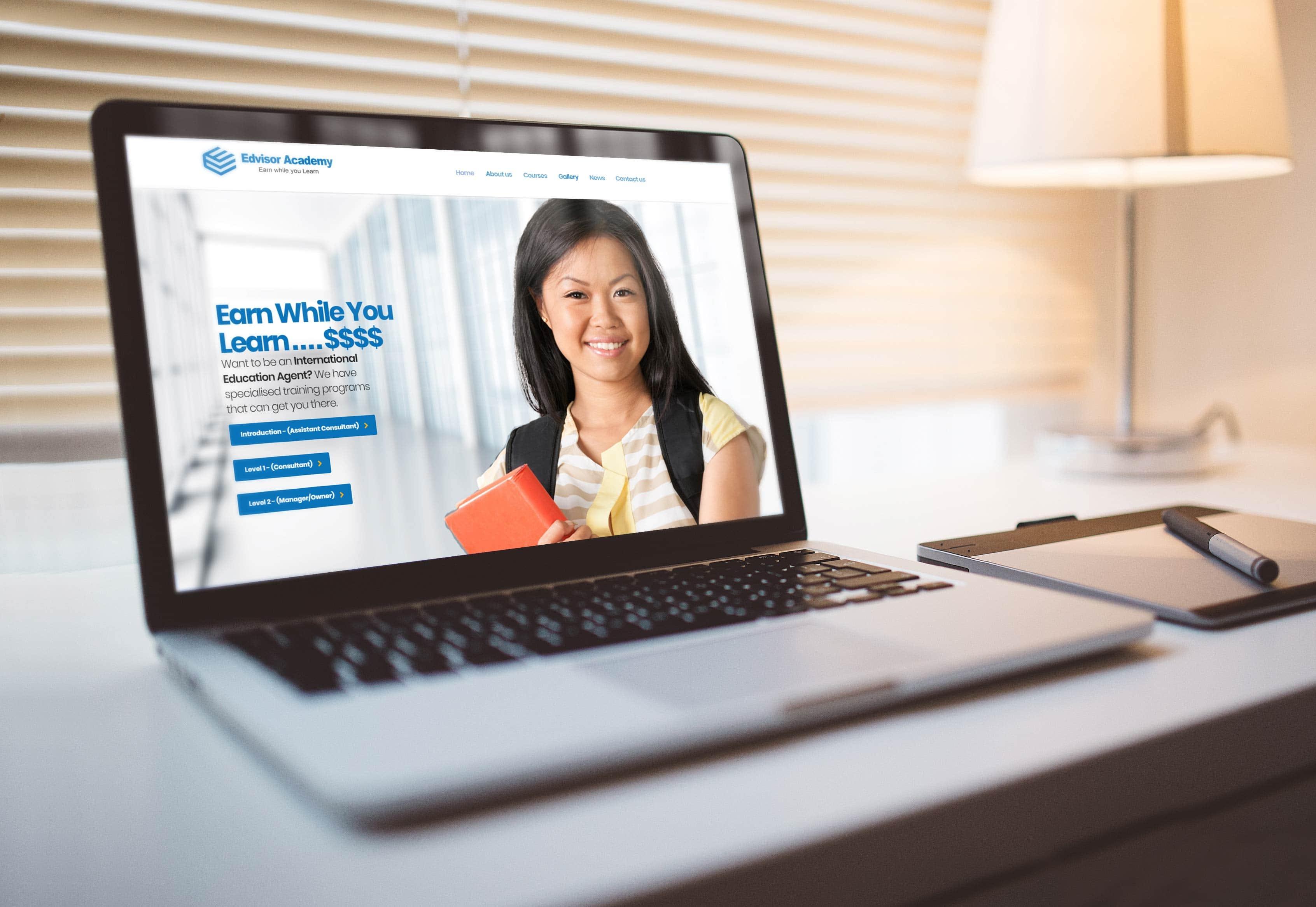Edvisor Academy website by TA Digital